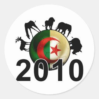 Algeria World 2010 Round Stickers