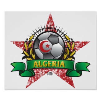 Algeria World Cup Soccer Poster
