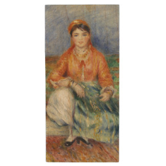 Algerian Girl by Pierre-Auguste Renoir Wood USB 2.0 Flash Drive