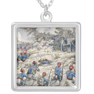 Algerian riflemen of the French army Silver Plated Necklace