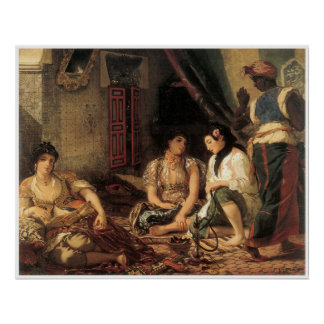 Algerian Women in their Apartments, 1834 Poster