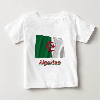 Algerien Fliegende Flagge mit deutschem Namen Baby T-Shirt
