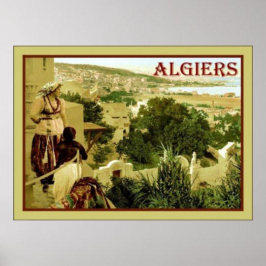 Algiers ~ Vintage Travel Poster