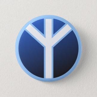 Algiz Rune 6 Cm Round Badge