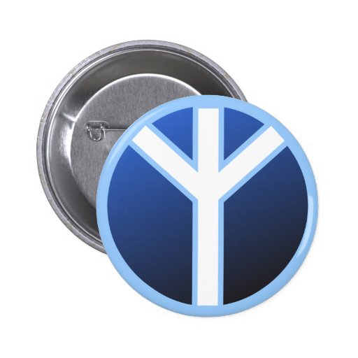 Algiz Rune Pinback Buttons