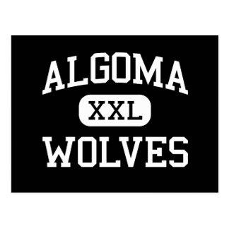 Algoma - Wolves - High School - Algoma Wisconsin Postcard