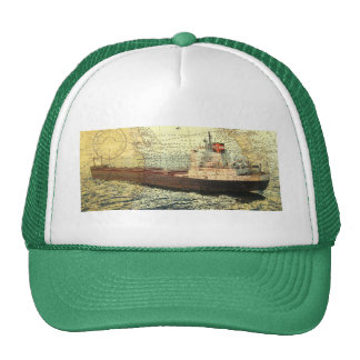 Algontario ship and old chart hat