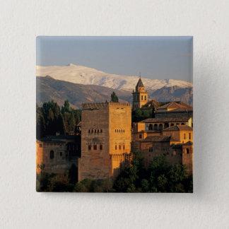 Alhambra; Granada; Andaslusia, Spain, Sierra 15 Cm Square Badge