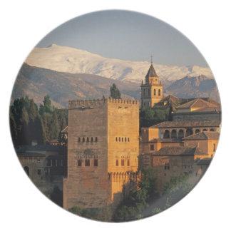 Alhambra; Granada; Andaslusia, Spain, Sierra Plate