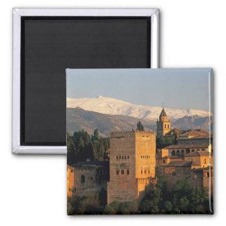 Alhambra; Granada; Andaslusia, Spain, Sierra Square Magnet