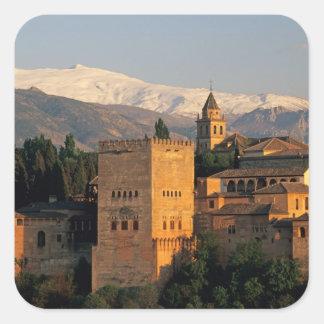 Alhambra; Granada; Andaslusia, Spain, Sierra Square Sticker