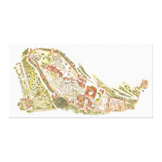 Alhambra Granada Spain. Aerial view Canvas Print