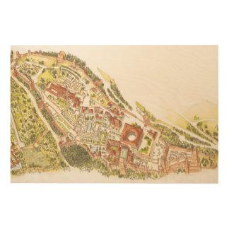 Alhambra Granada Spain. Aerial view Wood Wall Art