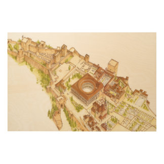 Alhambra Granada Spain. Castle and palaces Wood Print