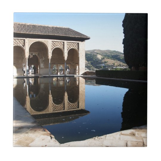Alhambra, Granada, Spain Small Square Tile