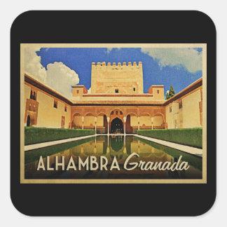 Alhambra Granada Spain Square Sticker
