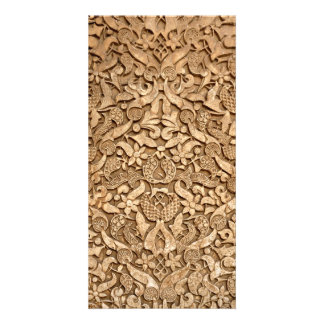 Alhambra pattern customized photo card