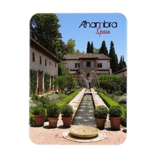 Alhambra Rectangular Photo Magnet