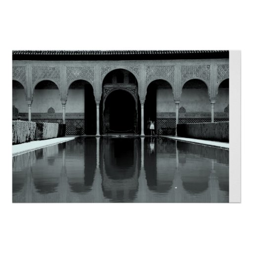 Alhambra reflection poster