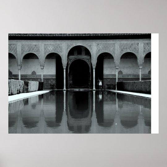 Alhambra reflection poster