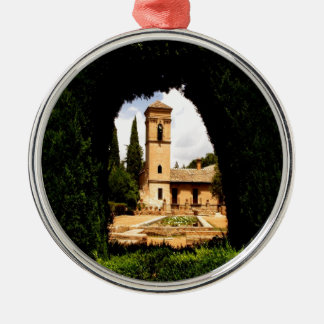 alhambra spain hedge church christmas ornament