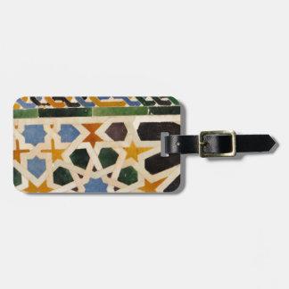Alhambra Wall Tile #3 Luggage Tag