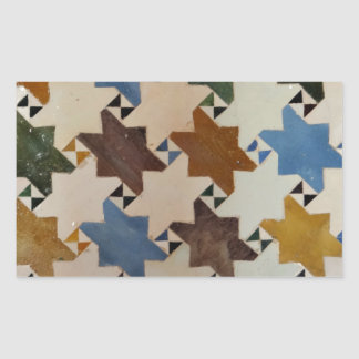 Alhambra Wall Tile #5 Rectangular Sticker
