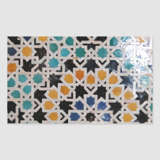 Alhambra Wall Tile #9 Rectangular Sticker