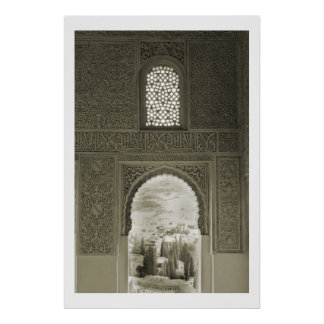Alhambra Window Poster