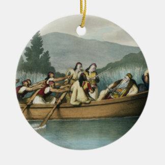 Ali Pasha (1741-1822) of Janina hunting on Lake Bu Christmas Ornament