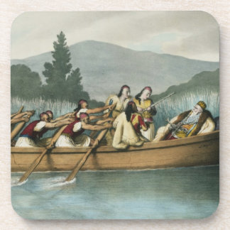 Ali Pasha (1741-1822) of Janina hunting on Lake Bu Coaster