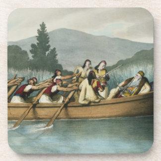 Ali Pasha (1741-1822) of Janina hunting on Lake Bu Drink Coasters