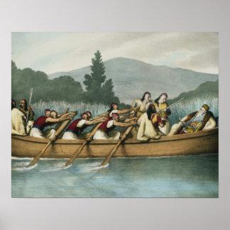 Ali Pasha (1741-1822) of Janina hunting on Lake Bu Poster
