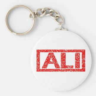 Ali Stamp Basic Round Button Key Ring