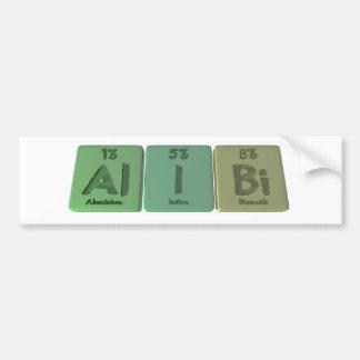 Alibi-Al-I-Bi-Aluminium-Iodine-Bismuth Bumper Sticker
