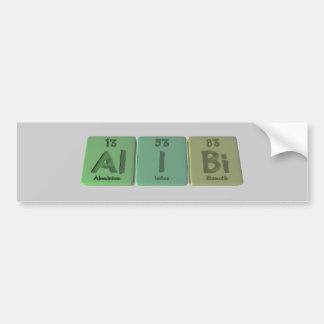 Alibi-Al-I-Bi-Aluminium-Iodine-Bismuth Car Bumper Sticker