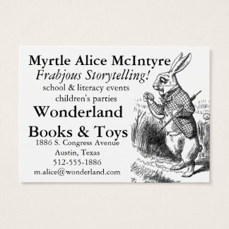 Alice150 Alice in Wonderland 150th Anniversary Business Card