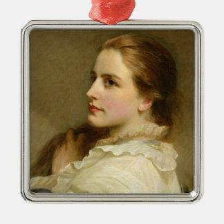 Alice, 1877 Silver-Colored square decoration