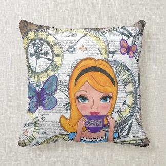 Alice Always Has Time for Tea Cushion