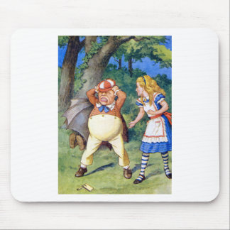 Alice and an angry Tweedledum in Wonderland Mouse Pad