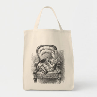 Alice and cat Tote Grocery Tote Bag