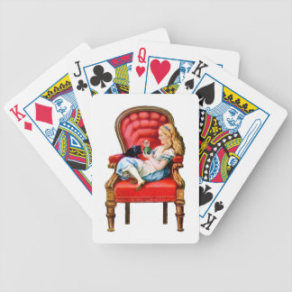 Alice and Dinah from Through The Looking Glass Bicycle Playing Cards