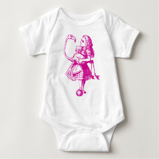 Alice and Flamingo Inked Pink Baby Bodysuit