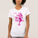Alice and Flamingo Inked Pink T-Shirt