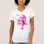 Alice and Flamingo Inked Pink Tshirt