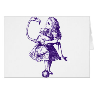 Alice and Flamingo Inked Purple Cards