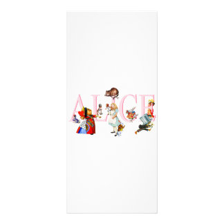 ALICE AND FRIENDS CUSTOMIZED RACK CARD