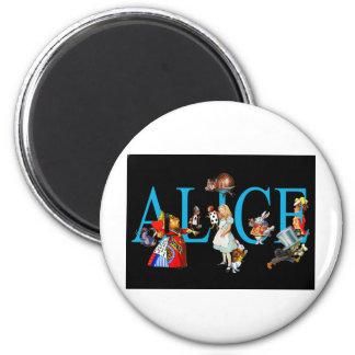 ALICE AND FRIENDS IN WONDERLAND 6 CM ROUND MAGNET