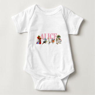 Alice and Friends in Wonderland Baby Bodysuit
