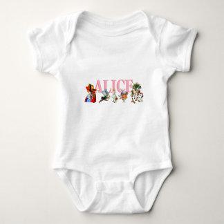 Alice and Friends in Wonderland Baby Bodysuit